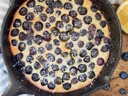 blueberry clafoutis with gluten free option caroline u0027s cooking
