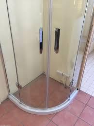 Shower Door Magnetic Strips by Frameless Glass Shower Screen Diamond Square Quadrant 1000x1000mm