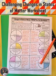Movie Worksheets Bill Nye Changes In States Of Matter Odd One Out Worksheet Middle