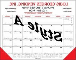 Desk Calendar Custom Cardinal Calendar Promotional Calendars Custom Intended For