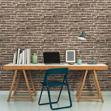 as creation house brick pattern wallpaper realistic embossed 307472