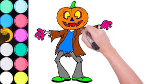 happy halloween pumpkin head coloring pages for kids halloween