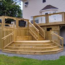 Deck Stairs Design Ideas Deck Design Ideas With Tub In Chic Deck Designs And Stairs