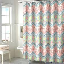 Coral And Gray Curtains Coral Colored Shower Curtain Coral Teal Gray Shower Curtain