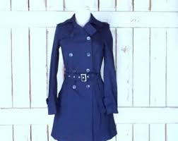 navy blue coat etsy