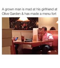 Mad Girlfriend Meme - a grown man is mad at his girlfriend at olive garden has made a