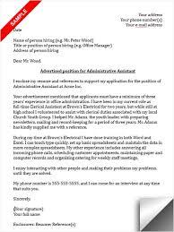Resume Cover Letter Samples For Administrative Assistant Job by Assistant Cover Letter Sample Administrative Assistant Cover