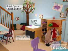 a tour of the classroom preschool play and learn organizing