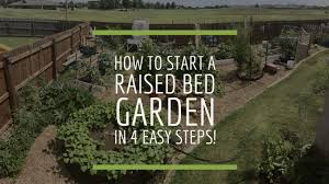 how to start a raised bed vegetable garden in 4 easy steps from