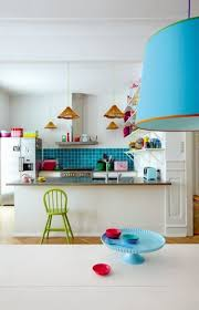 15 colorful kitchen ideas with vibrant atmosphere home loof white kitchen and turquoise tile backsplash