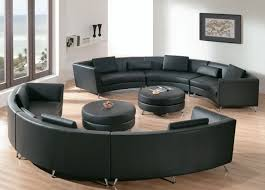 Curved Leather Sofas Modern Leather Sectional Round Couches Wayfair Sofa Sofas Curved
