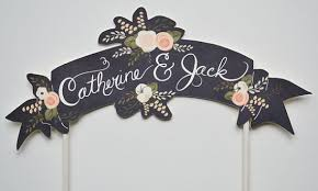 banner cake topper diy and customisable wedding cake toppers chic vintage brides