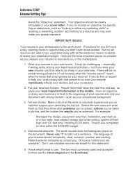 the word resume opening resume statement exles