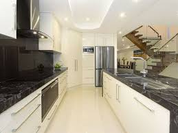 Modern Galley Kitchens White Modern Galley Kitchen Idea With Extravagant Look Modern