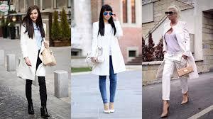 14 fashionable ways to style white winter coats youtube