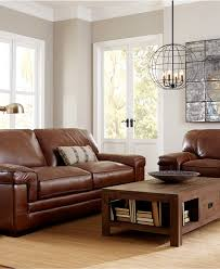 Leather Couches Myars Leather Sofa Collection Furniture Macy U0027s Study Bar