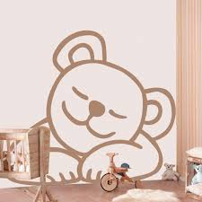 stickers nounours chambre bébé ourson dodo stickers