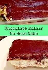 easy no bake chocolate éclair cake