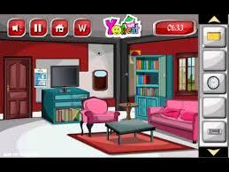 living room escape glitter red living room escape game walkthrough youtube
