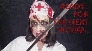 bloody nurse halloween makeup tutorial beautty bee youtube