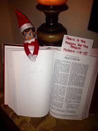 elf on the shelf gives the kids bible verses from time to time to