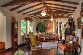 Small House In Spanish Rustic Small House With Beautiful Garden In Spanish Home Design And