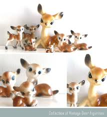 ismoyo vintage playground vintage big eyed deer figurines
