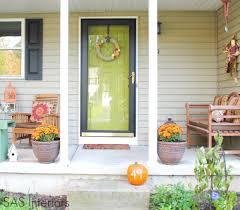 hello color we love how the dark larson storm door frames the
