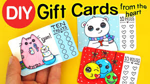 diy how to make gift cards from the heart fun holiday craft