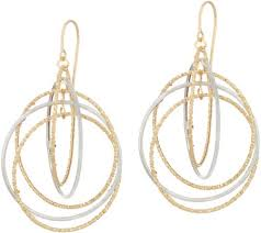 circle earrings italian gold textured polished multi circle earrings 14k qvc