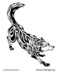amazing tribal wolf tattoo design