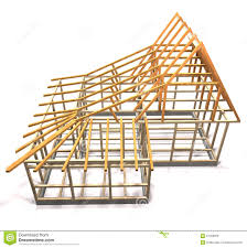 Frame House Wooden Frame Of A House Top View Stock Illustration Image