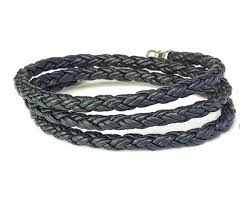leather black bracelet images Skinny black triple wrap braided leather bracelet lucky dog leather jpg