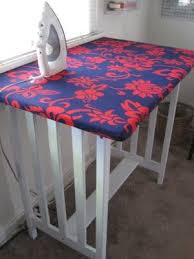 quilting ironing board table how to turn an table into an over sized ironing board that s perfect