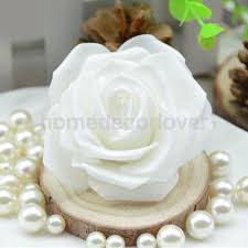 dried artificial flowers home decor home furniture diy 50x fake rose heads artificial flower bridal bouquet home office decor white