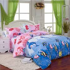 Queen Sized Comforters 3 Or 4pcs Cotton Blend Mix Patterns Paint Printing Bedding Sets