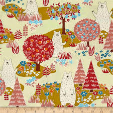 cosmo forest delight yellow discount designer fabric fabric com