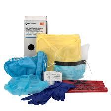 bloodborne pathogen bbp spill clean up apparel refill pack for