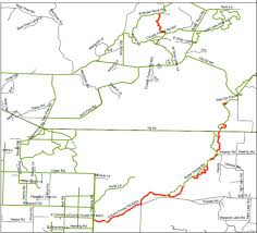 Wisconsin Snowmobile Trails Map by Oconto County Tourism Trail Reports