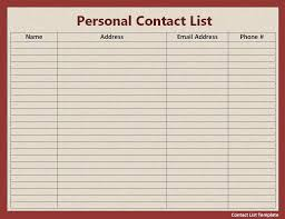 doc 830583 contact list excel template u2013 free contact list