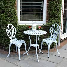 Aluminium Garden Chairs Uk Bentley Garden Cast Aluminium Tulip Bistro Table And Chairs