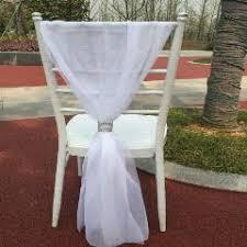 blue chair sashes outdoor lawn wedding bamboo chair decoration silk chair sash