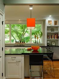 Kitchen Peninsula Design by Beautiful Lime Green Kitchen Design Displaying Modern Astounding L