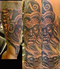 aztec skull face tattoo photo 1 photo pictures and sketches