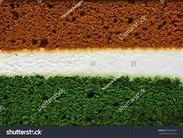 Flags That Are Orange White And Green Layers Orange White Green Cake Forming Stock Photo 456070804