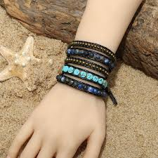 leather wrap bracelet with stones images Aobei pearl handmade wrap bracelet with 6 mm natural stones 6 mm jpg