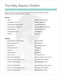 baby registry gifts sle baby registry checklist 7 exles in pdf