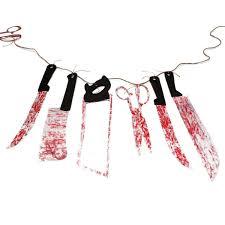 amazon com haunted asylum halloween bloody weapon garland