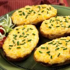 cuisiner pommes de terre pommes de terre farcies au cheddar recettes de cuisine américaine