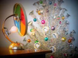vintage silver tree lights decoration